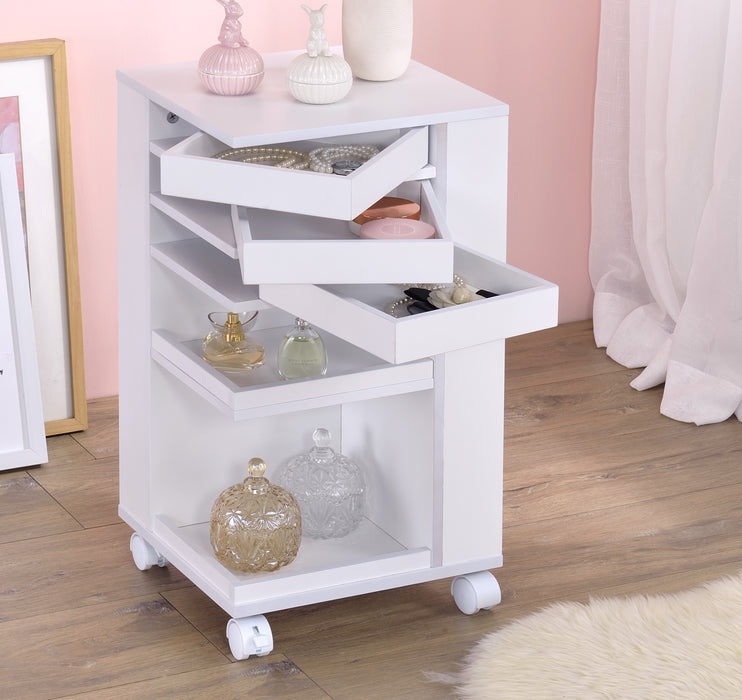 Nariah White Storage Cart