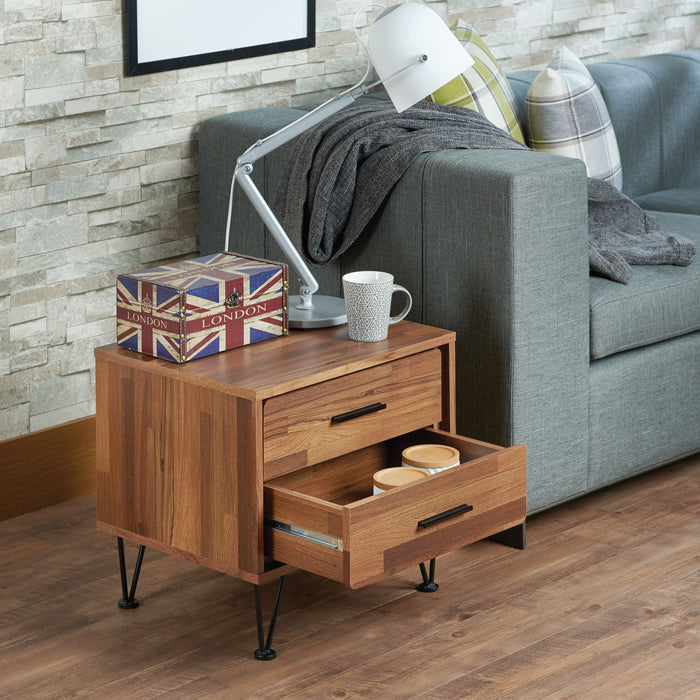 Deoss Walnut Accent Table
