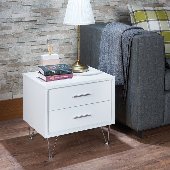 Deoss White Accent Table