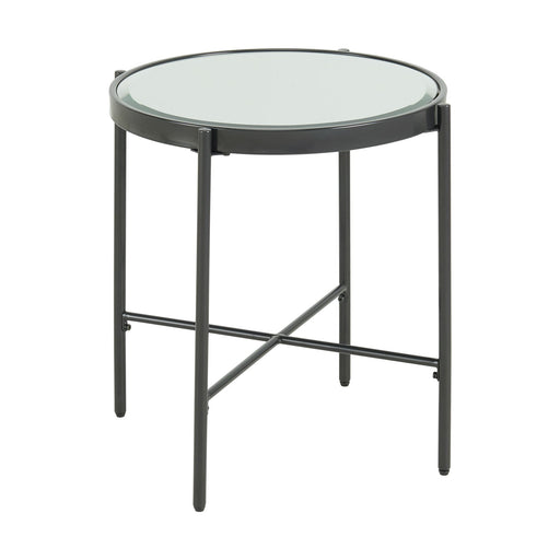 Vienna Round End Table with Glass Top image