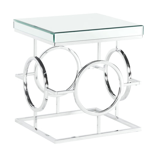 Pearl Square Mirrored End Table image