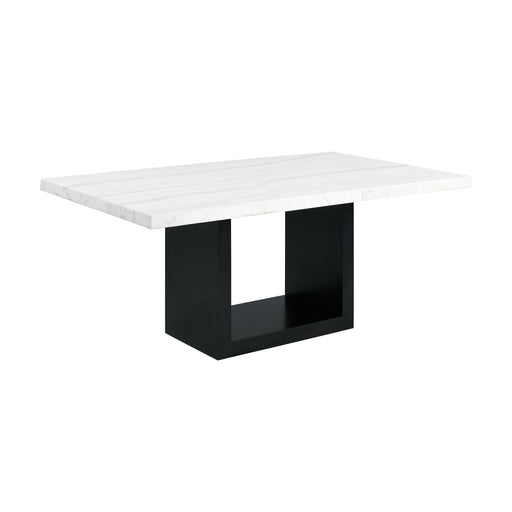 Valentino White Marble Standard Height Dining Table image