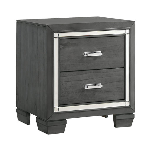Titanium 2-Drawer Nightstand image