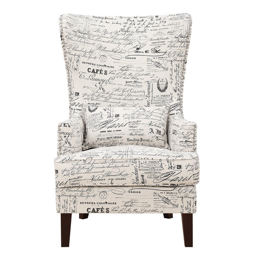 Kori Accent Chair in French Script image