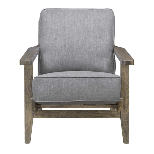 Metro Accent Chair in Slate w/ Antique Legs image
