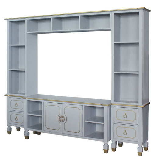ACME House Marchese Entertainment Center with TV Stand in Pearl Gray 91990 image