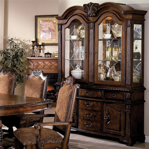 Crown Mark Neo Renaissance Buffet with Hutch in Warm Brown 2400BH image