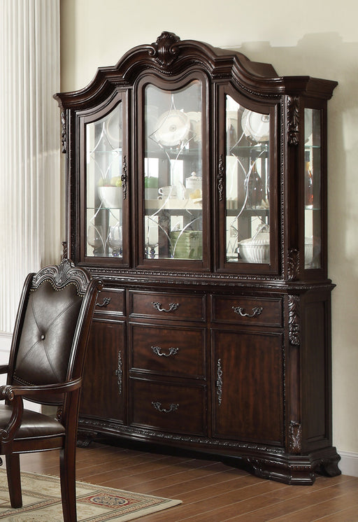 Crown Mark Kiera Buffet with Hutch in Rich Brown 2150BH image