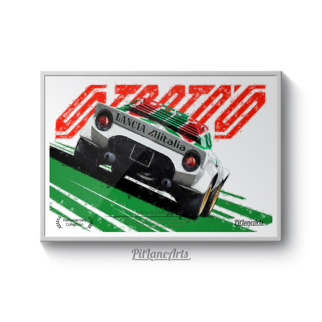 Lancia Stratos Rally Car Poster