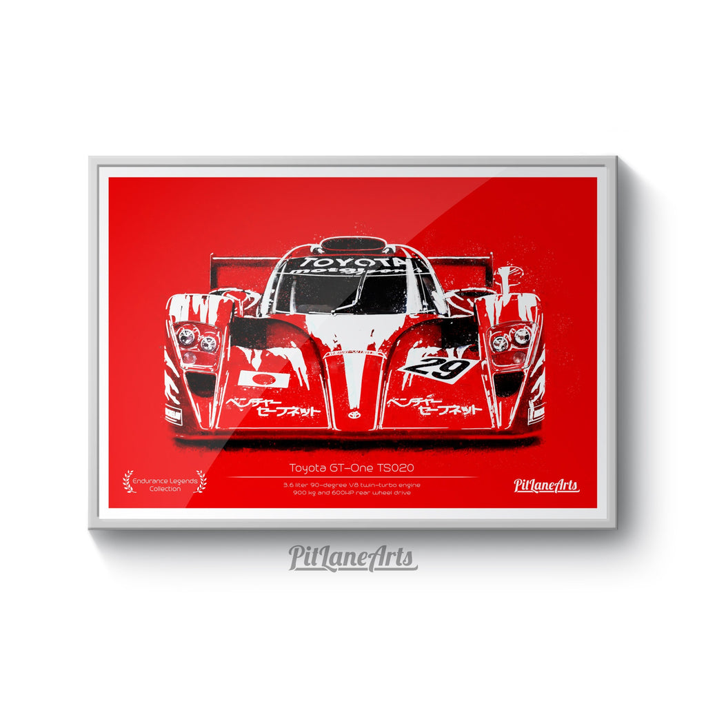 Toyota GT-One illustration print