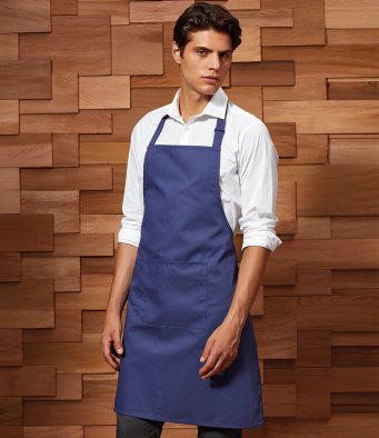 Premier 'Colours' Bib Apron with Pocket PR154