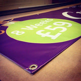 PVC banner 4ft height