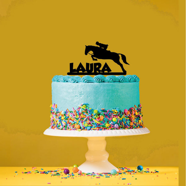 Personalised horse themed cake topper