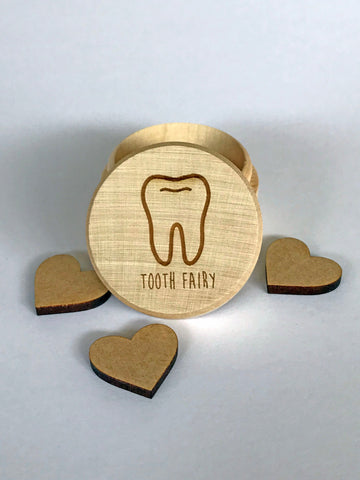 Tooth Fairy wooden Box, baby tooth. Keepsake,  trinket