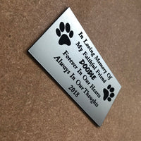 Personalised engraved pet dog memorial remembrance sign plaque
