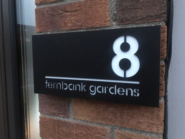Modern, contemporary, stylish acrylic house number