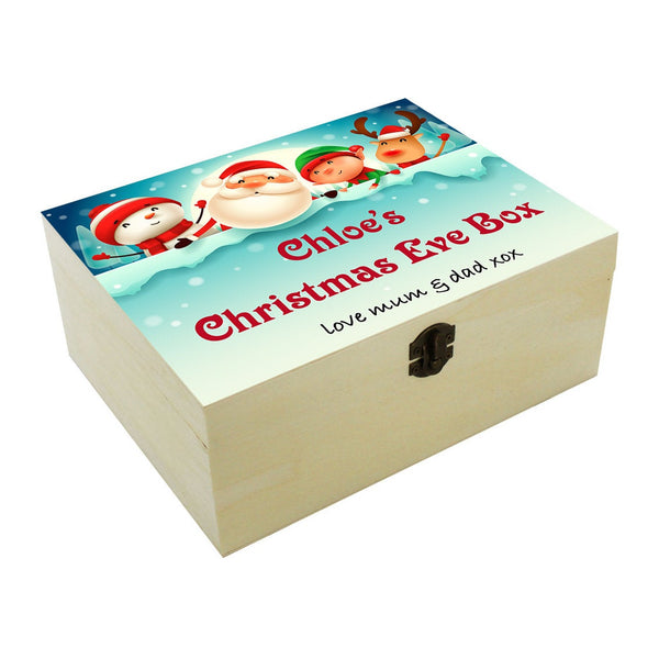 Personalised Christmas eve box. Christmas tradition. Boy or Girl ceb03