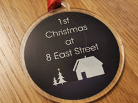 Personalised 1st Christmas New home acrylic bauble