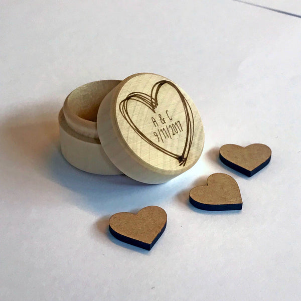 Personalised Wedding Ring Box, Proposal, Engagement, Wedding Day. Engraved