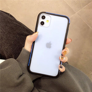Shockproof Matte Bumper Transparent Silicone Soft Phone Case