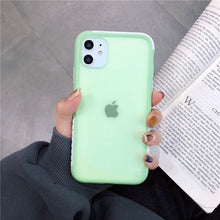 Load image into Gallery viewer, Shockproof Matte Bumper Transparent Silicone Soft Phone Case