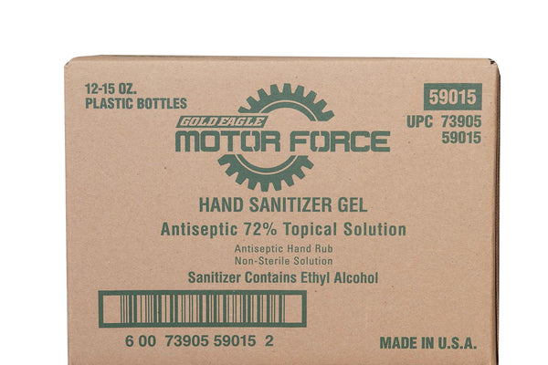 12 Pack of Fragrance Free 15oz Motor Force™ Hand Sanitizer Gel