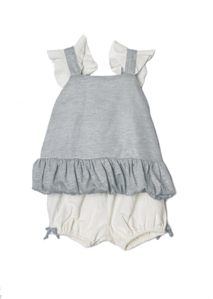 Pearlette Grey Bloomer Set