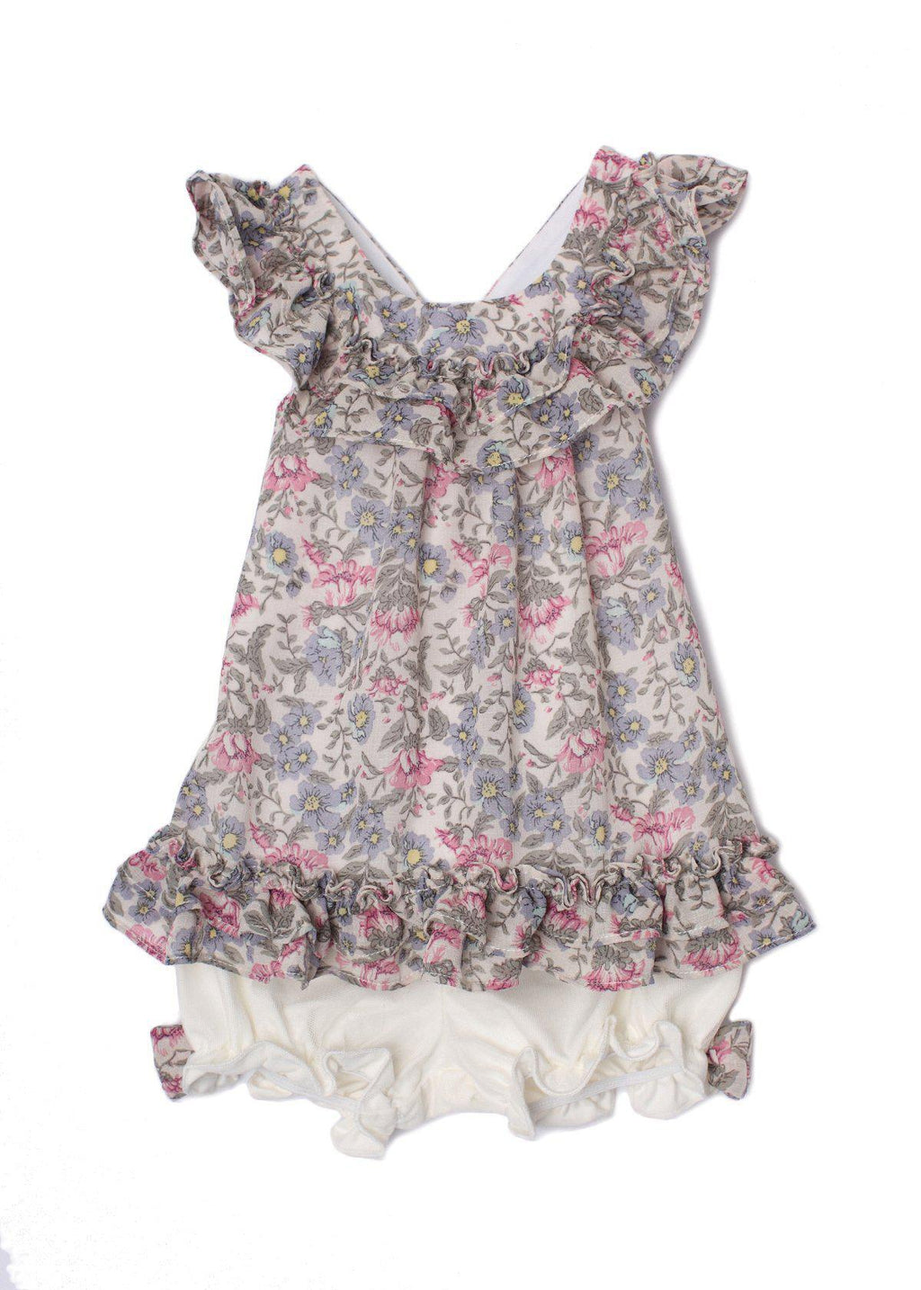 Fleurette Floral Bloomer Set Purple 3171LR
