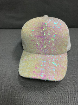 Sparkly White Ball Cap
