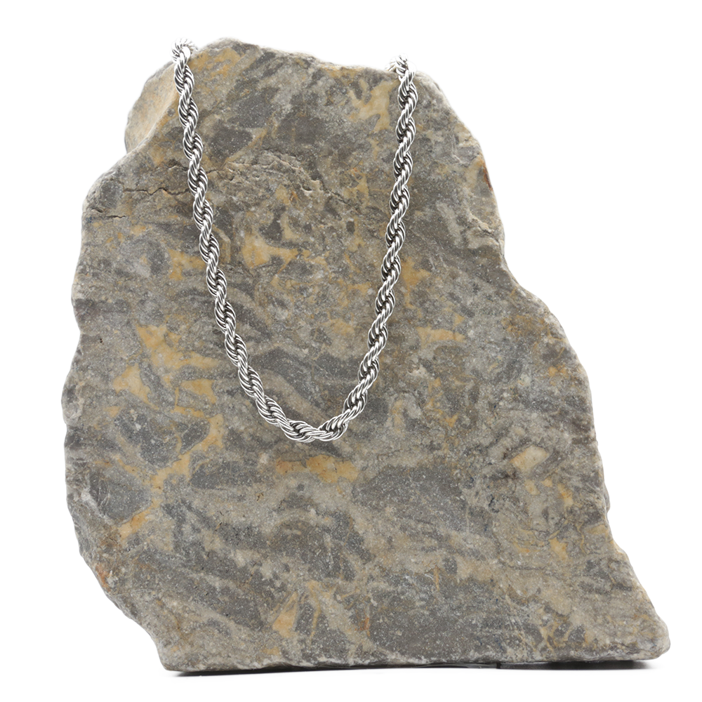 Collier CORDAGE - Argent - 5,5 mm