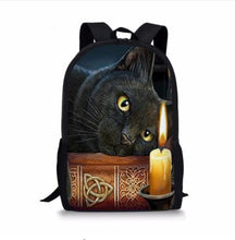 Load image into Gallery viewer, Gothic Witchy Cat Backpack