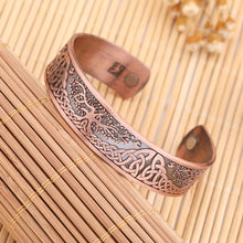 Load image into Gallery viewer, Tree of Life Magnetic Cuff Bangle Bracelet