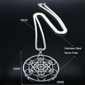 Tree of Flower Pendant Necklace