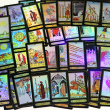 Load image into Gallery viewer, Holographic Tarot Cards 78 PCS