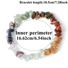 Load image into Gallery viewer, Reiki Natural Stone 7 Chakra Bracelet