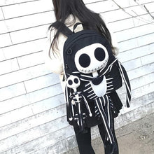 Load image into Gallery viewer, Goth Skull Backpack