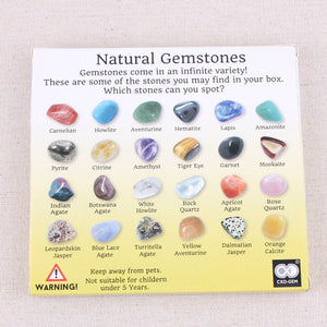 20Pcs Natural Gemstones Collection