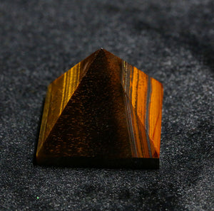 Tiger Eye Crystal Pyramid