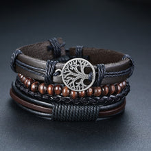 Load image into Gallery viewer, 4 Pcs Tree of Life Leather Bracelet