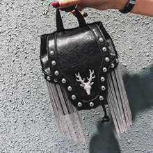 Load image into Gallery viewer, Goth Deer Head Bag
