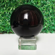 Load image into Gallery viewer, Natural Obsidian Crystal Ball