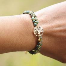 Load image into Gallery viewer, Tree of Life Natural Stone Bracelet