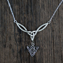 Load image into Gallery viewer, Celtic Knot Eternity Pendant Necklace
