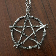 Load image into Gallery viewer, Branch Pentagram Pendant Necklace