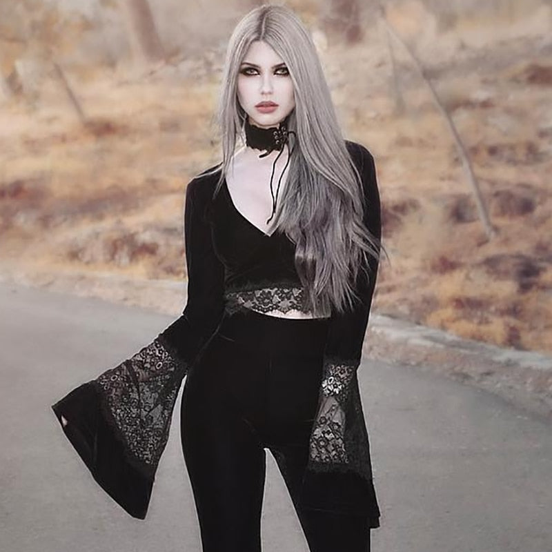 Gothic Lace Crop Top