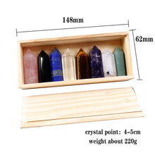 Load image into Gallery viewer, Hand Carved Healing Crystal Point Wand Set