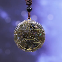 Load image into Gallery viewer, Orgone Aura Labradorite Pendant Necklace
