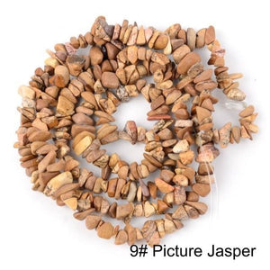 Natural Stone Chip Beads For Jewelry Making DIY Bracelet 16''