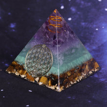 Load image into Gallery viewer, Healing Orgone Pyramid For Meditation Reiki Balancing