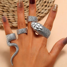 Load image into Gallery viewer, Gothic Snake Ring Set (4 Pieces)